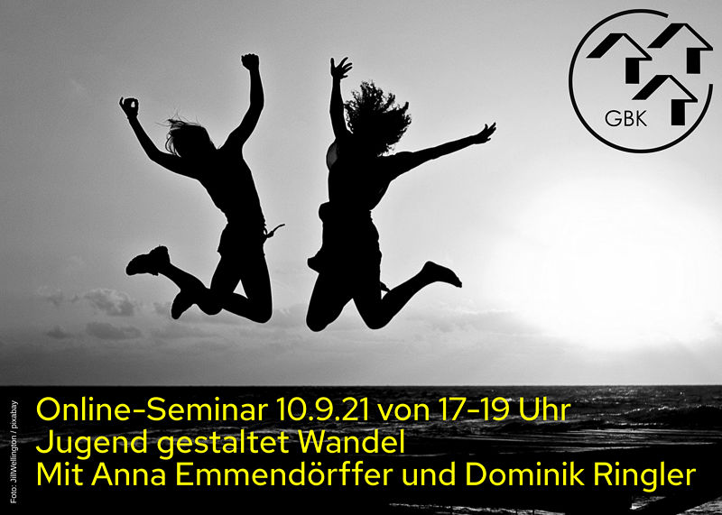 Online-Seminar: Jugend gestaltet Wandel am 10.09.2021