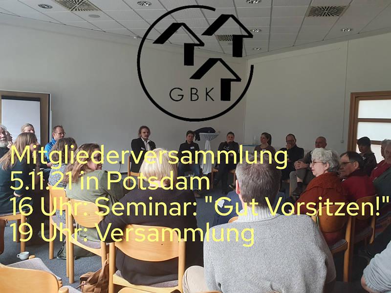 GBK Brandneburg Mitgliederversammlung 2021